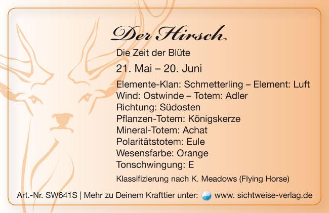 Krafttier Hirsch