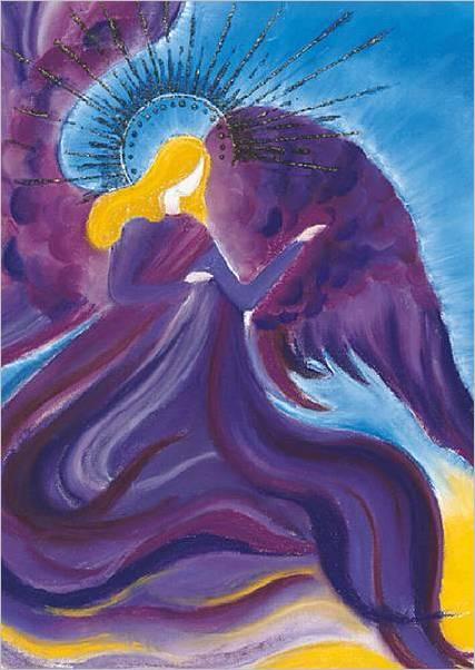 Engelbild Erzengel Zadkiel A4 Poster